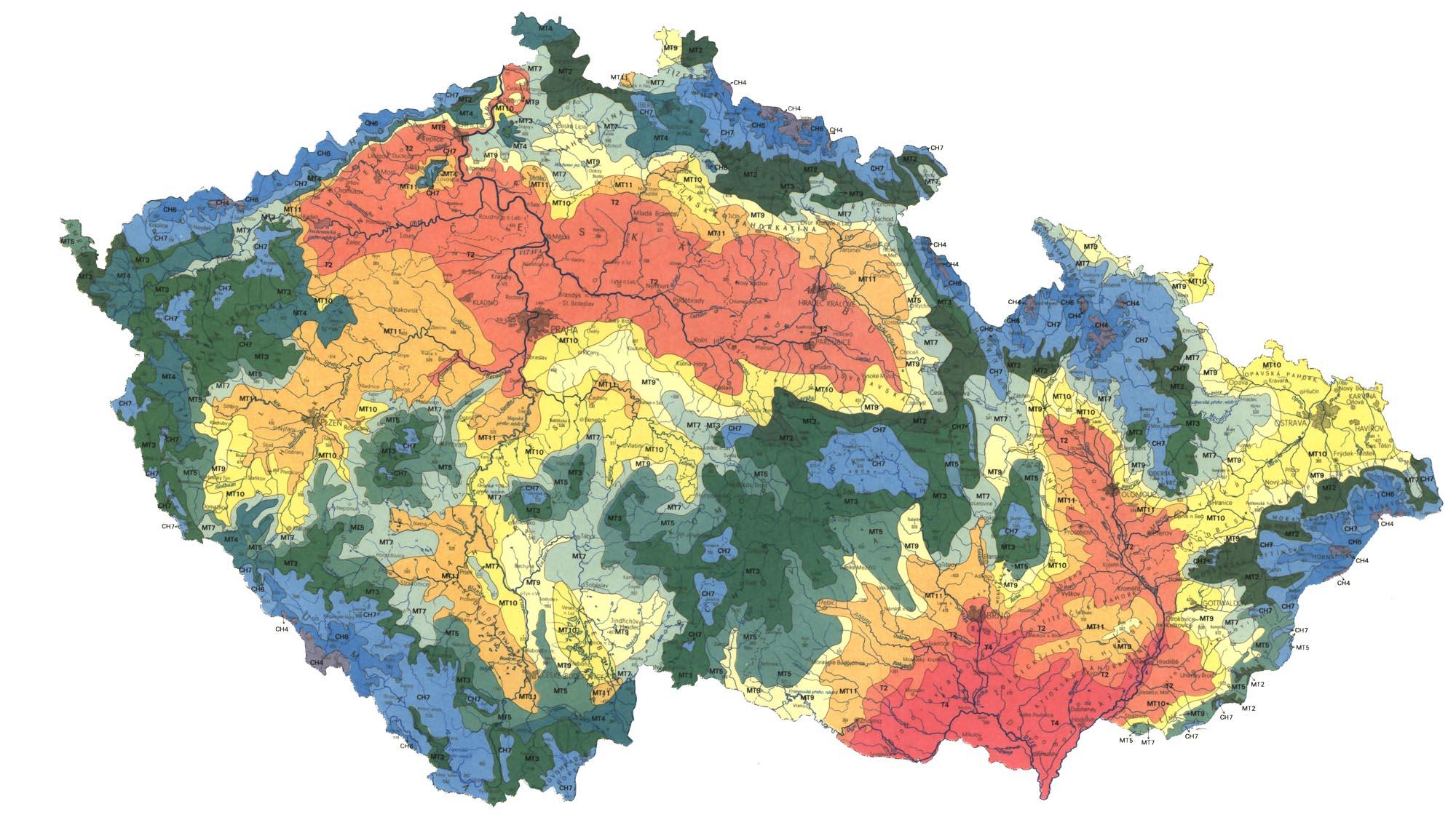 mapa klimaticka