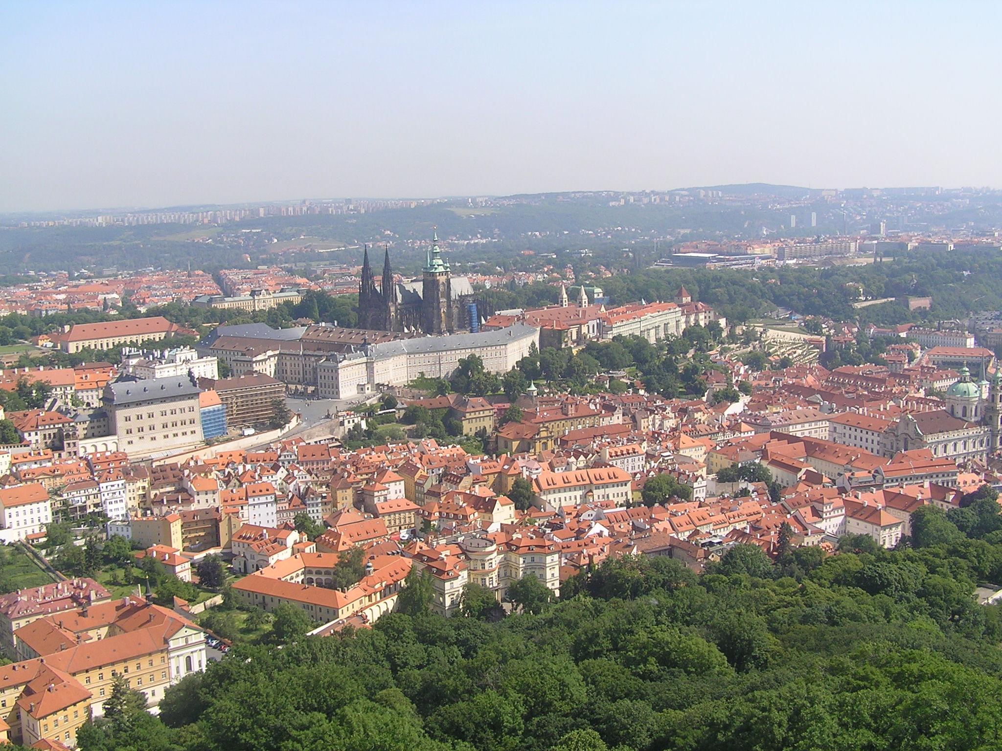 Praha z rozhledny