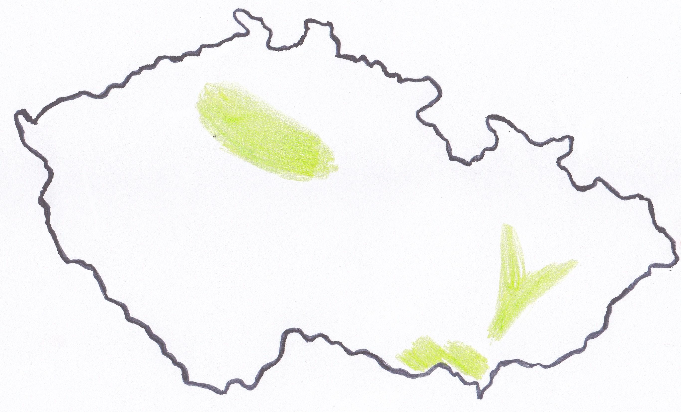 mapa cr niziny