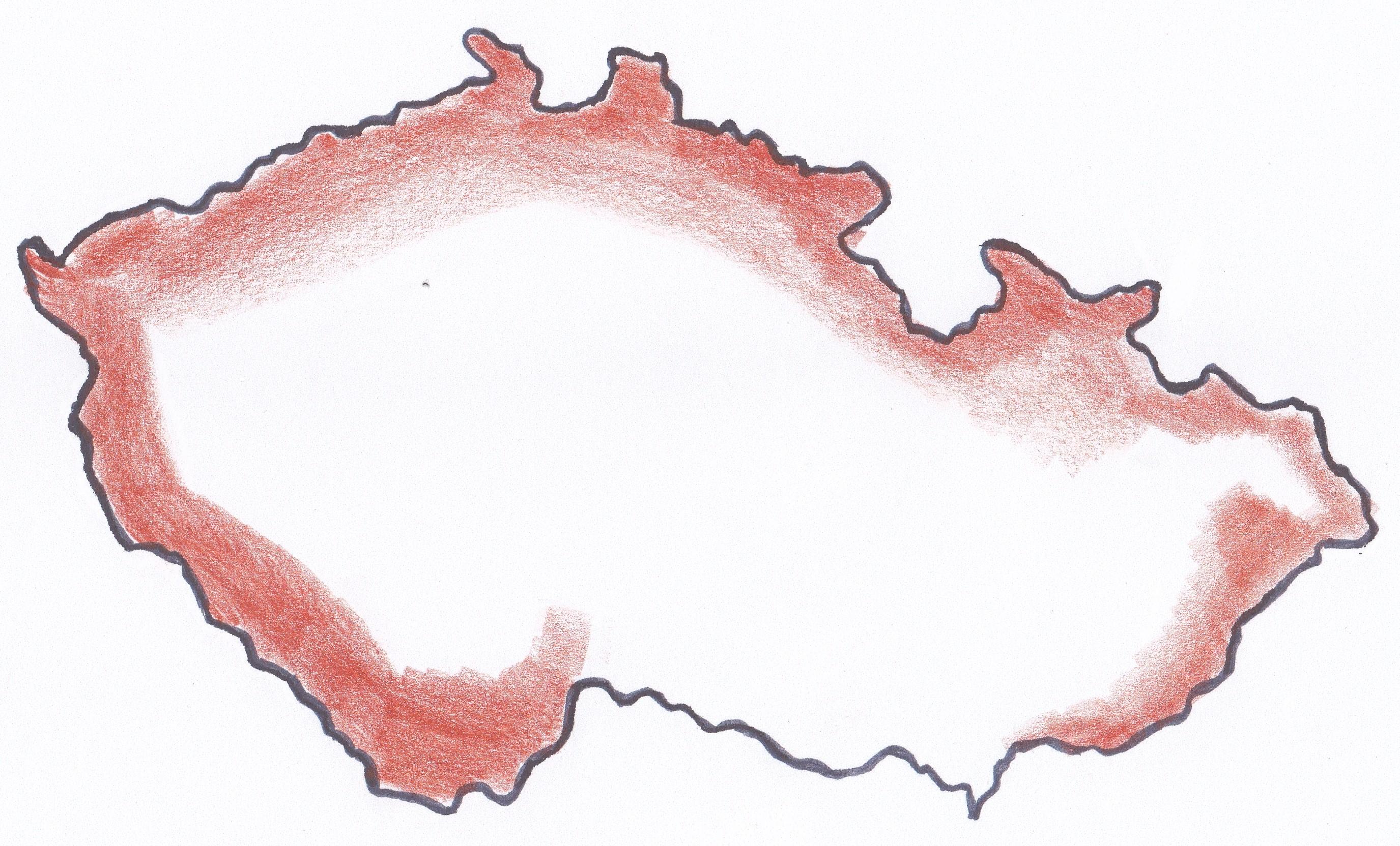 mapa cr pohori