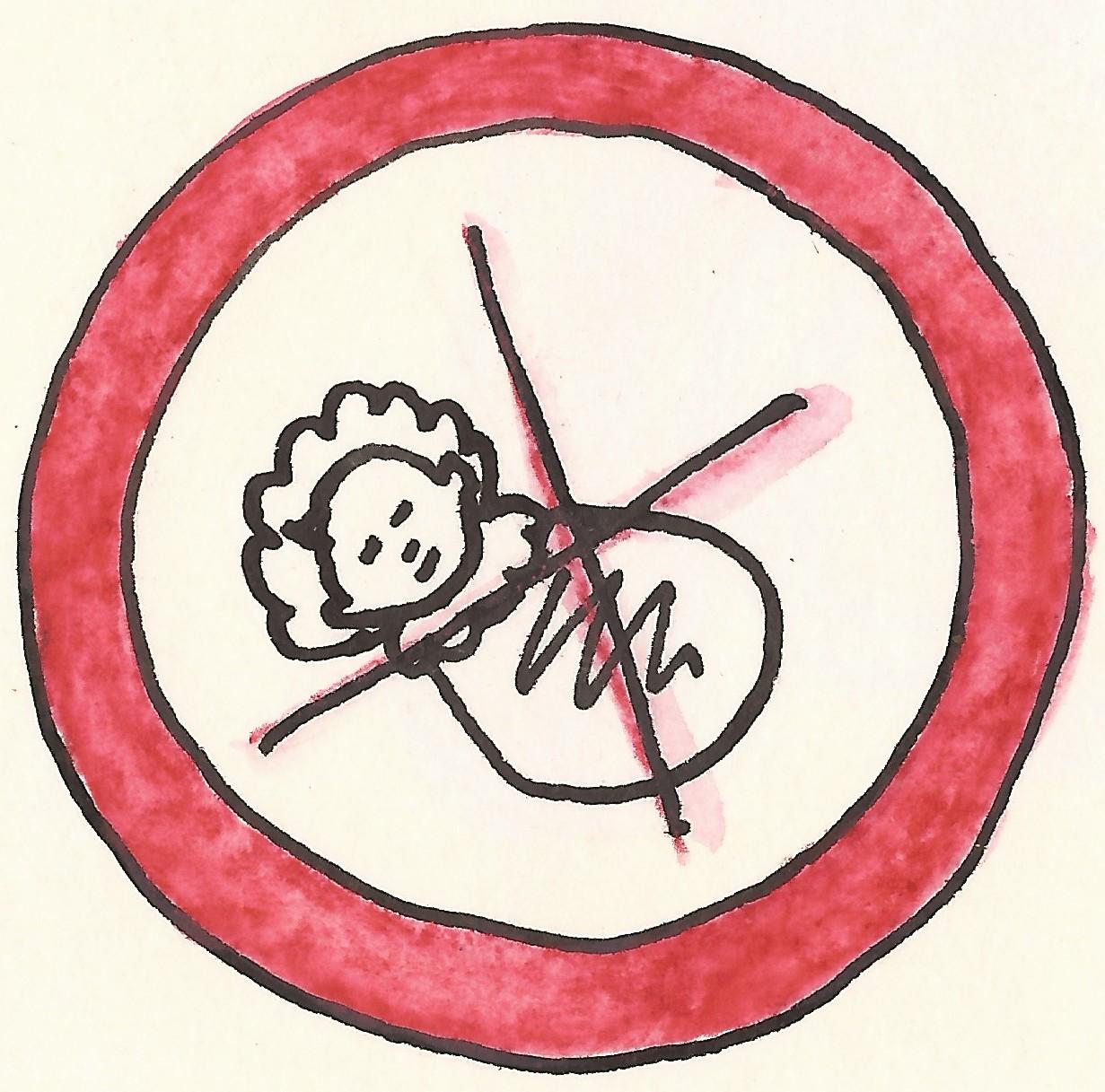 piktogram nemoci mít deti červene