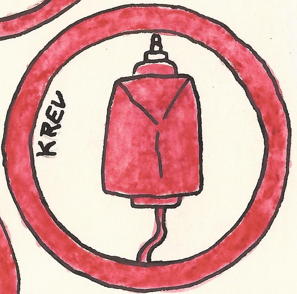 piktogram prenos krvi cervene