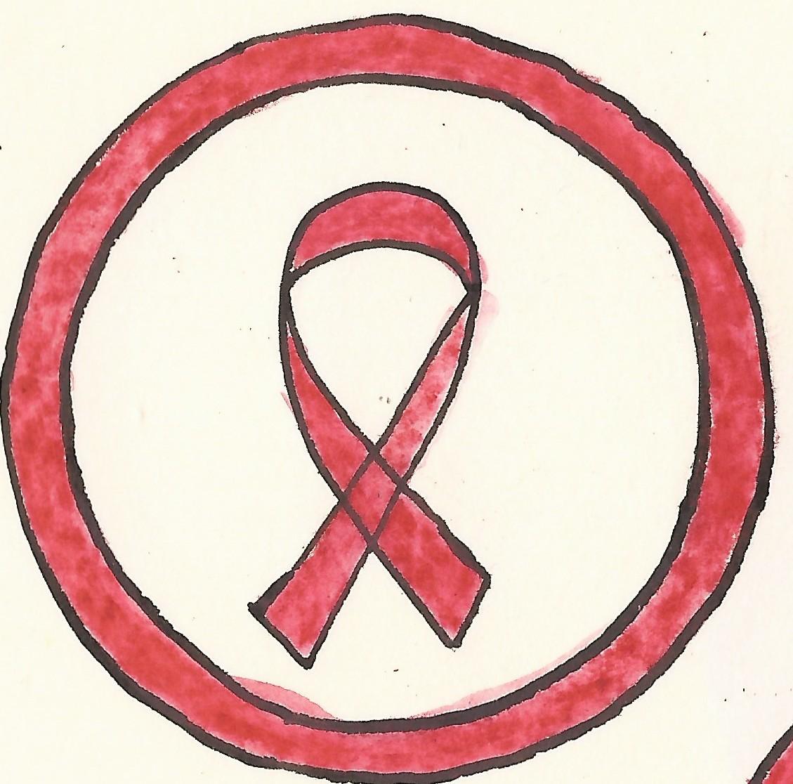 piktogram symbol aids cervene